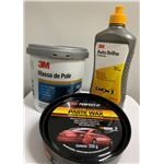 Kit 3M (Massa de Polir, Auto Brilho e Cera Paste Wax)