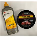 Kit 3M (Auto Brilho e Cera Paste Wax)