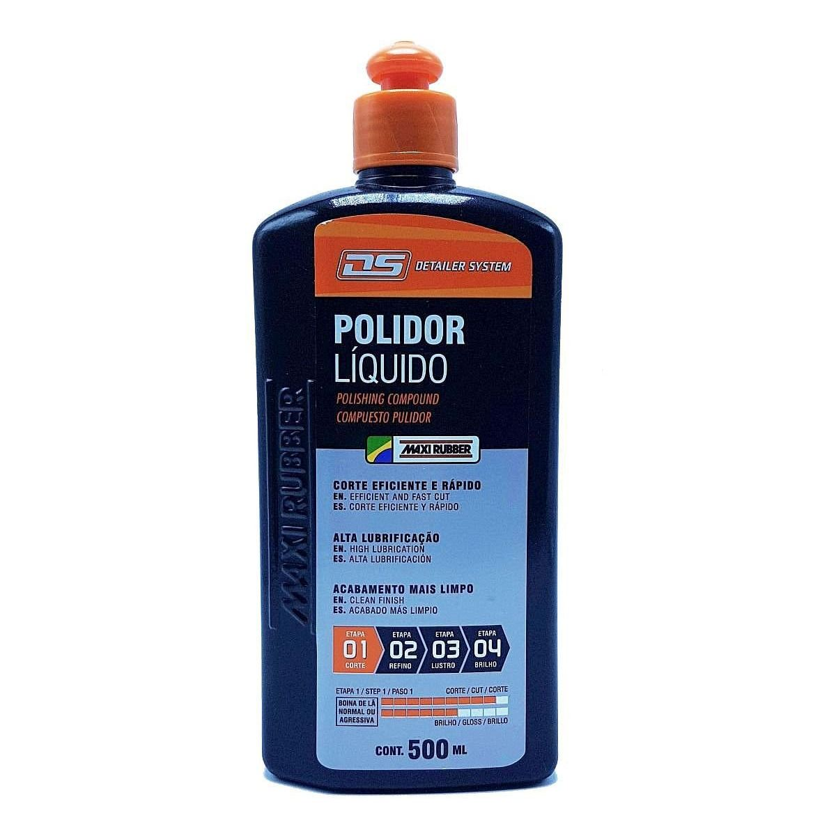Composto Polidor Líquido Automotivo 500ml Maxi Rubber